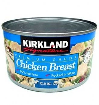 (3 Pack) Valley Fresh % Natural Canned Chicken Breast with Rib Meat in Broth, 10 Ounce. See Details. Product - (3 Pack) Hormel Premium Canned Chunk Chicken Breast in Water, 10 Ounce. Product Image. Price $ 6. Product Title (3 Pack) Hormel Premium Canned Chunk Chicken Breast in Water, 10 Ounce.