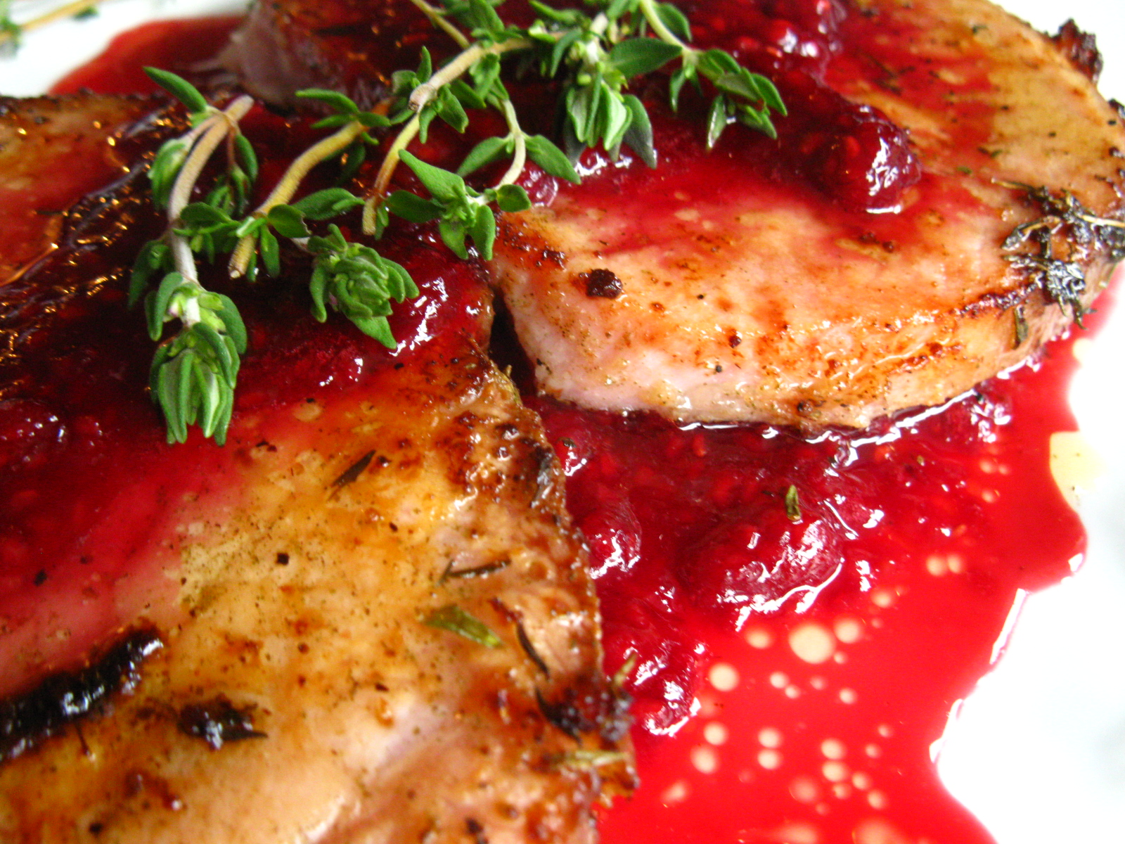 Pork Chops with Raspberry Sauce   Food Allergy Cooking